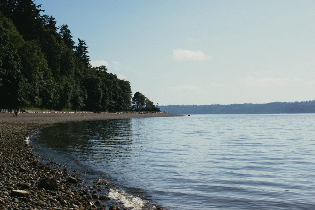 Landscape View Of A Beach In Seattle Washington